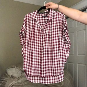 Madewell checkered picnic short sleeve buttondown